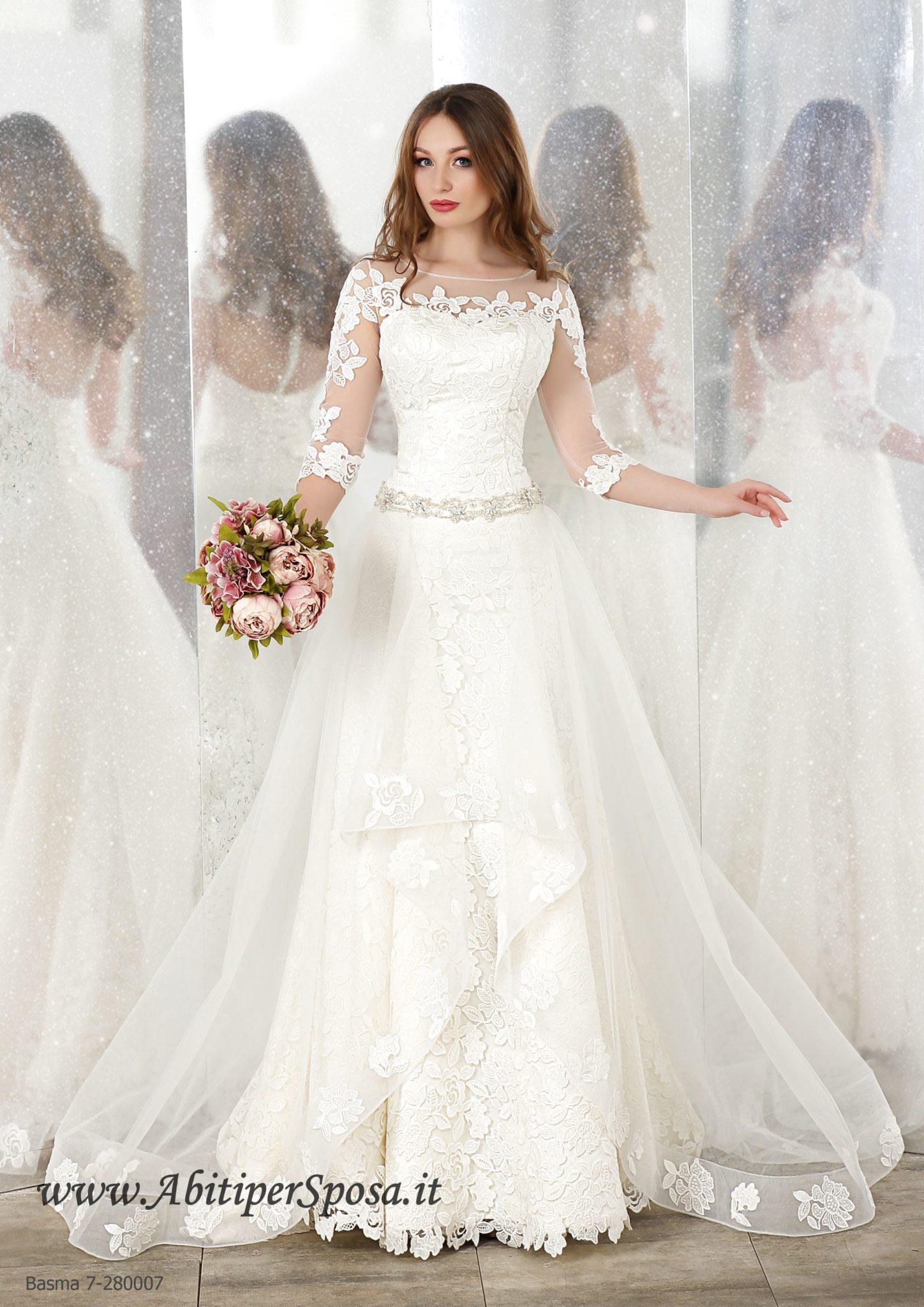Abito da sposa trasformabile modello Basma