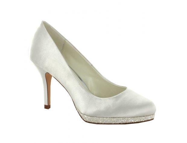 online store 61157 2544d Scarpe sposa bianche menbur modello Cecilia