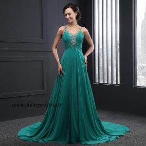 best website d309c 3be4c Abito lungo da cerimonia in pizzo e tulle modello Tiffany ...